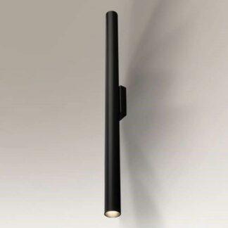 Długi kinkiet Yabu - czarna tuba
