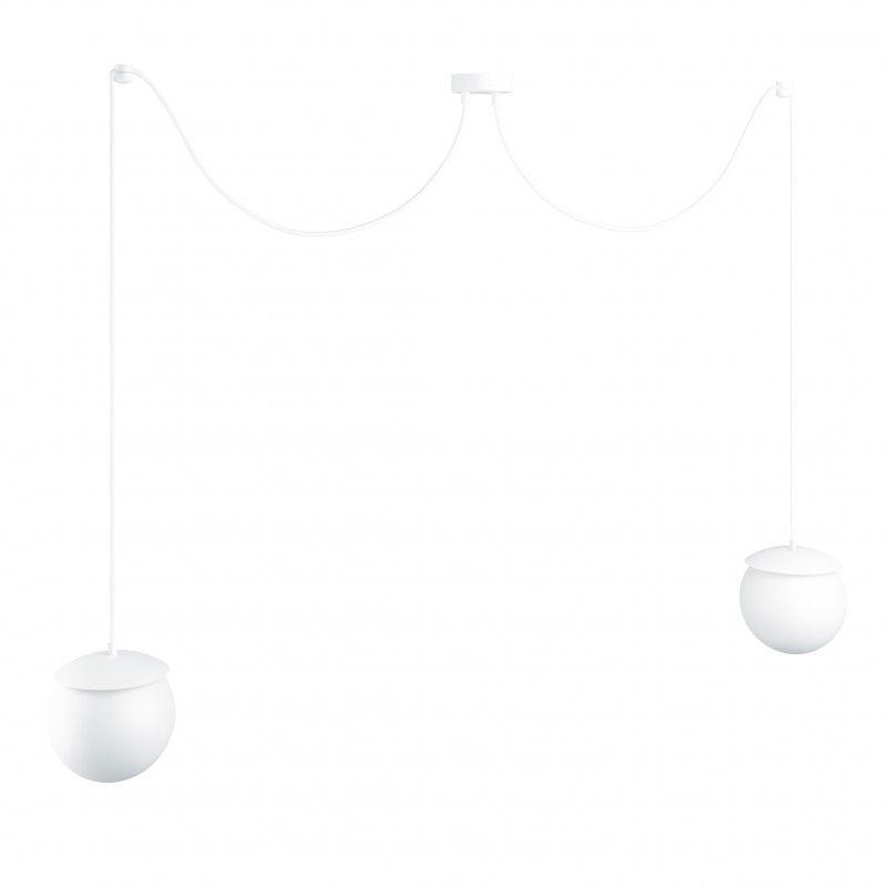 Lampa wisząca Kuul F - biała, 2 klosze