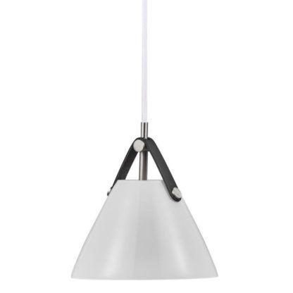 biała lampa wisząca szklany klosz nowoczesna