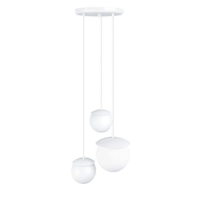 Biała lampa wisząca Kuul M - klosze 15cm, 20cm