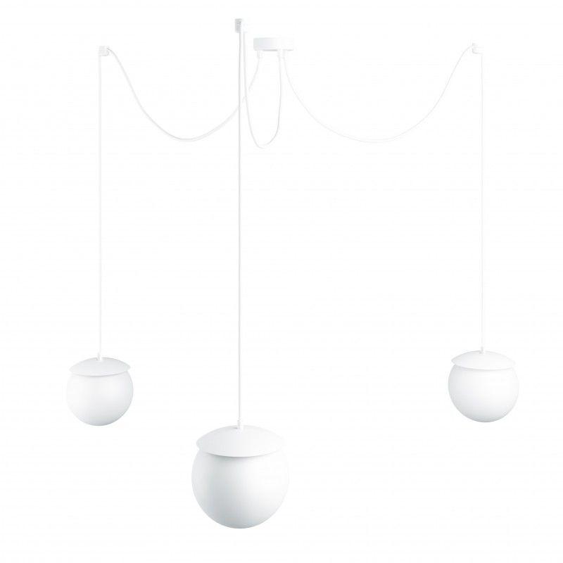Lampa wisząca Kuul F - biała, 3 klosze
