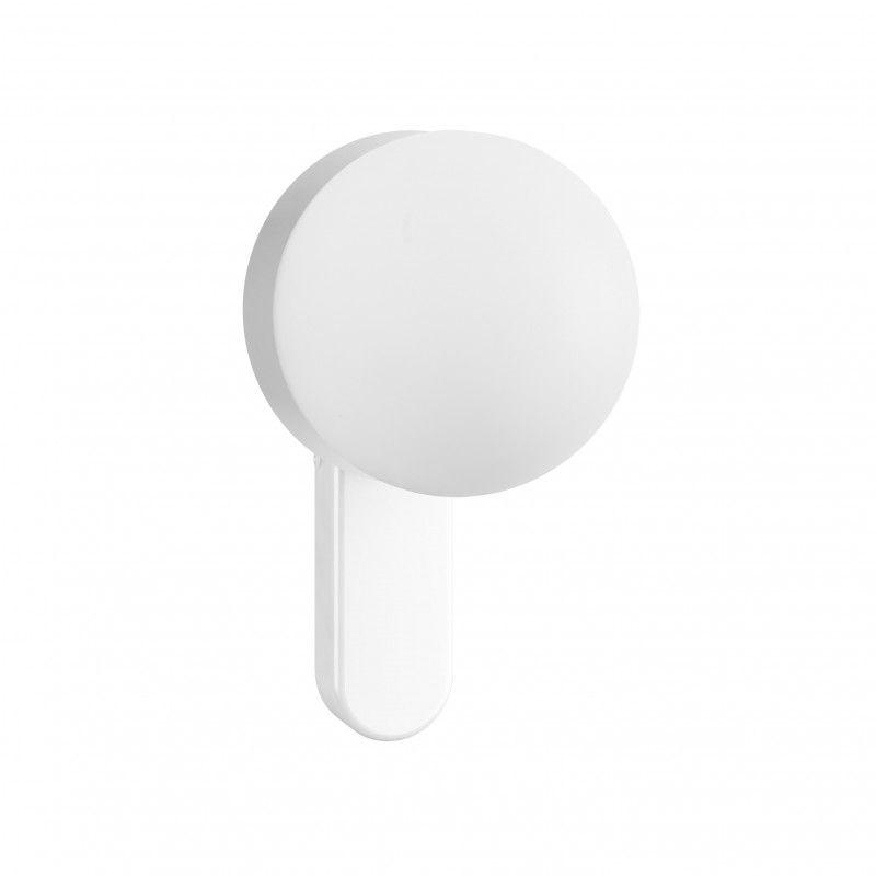 nowoczesny biały kinkiet szklana kula