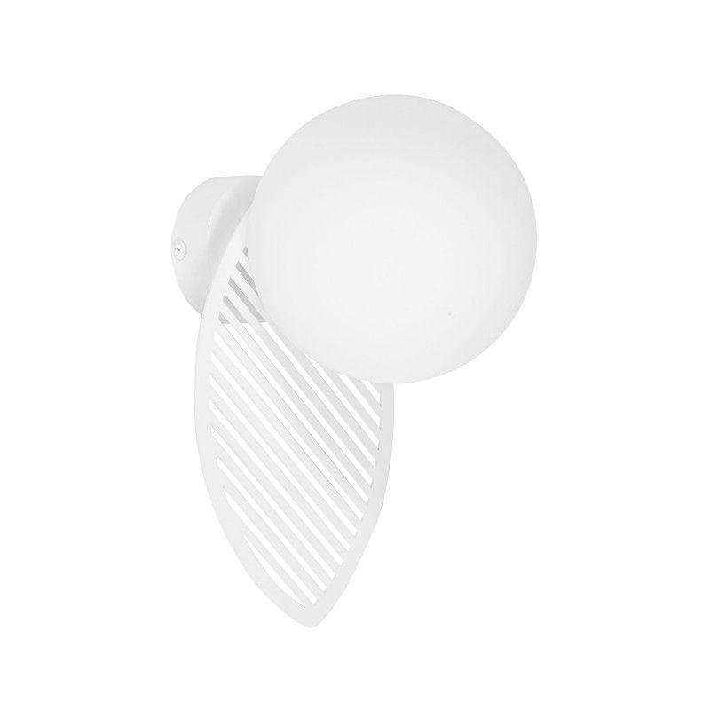 Dekoracyjny kinkiet Fyllo - biały, szklany klosz