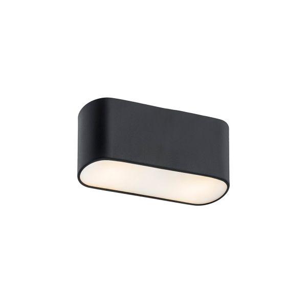 Czarna lampa sufitowa Toni - owalna
