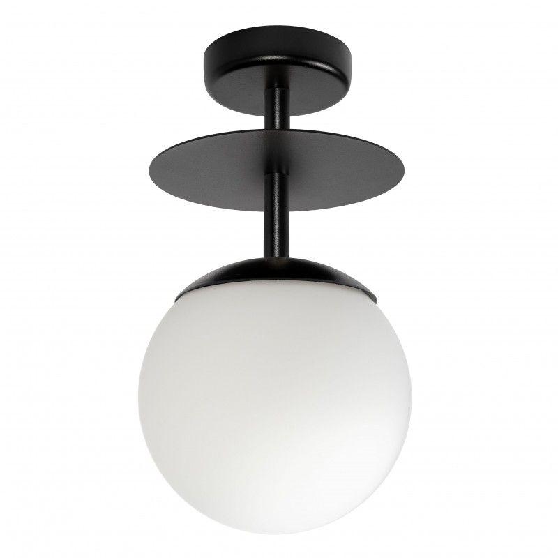 czarna nowoczesna lampa sufitowa do salonu