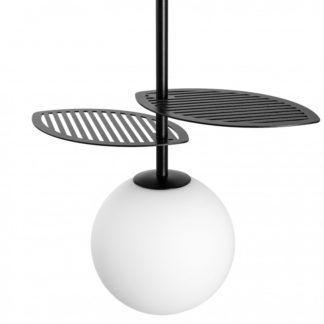 Nowoczesna lampa wisząca Fyllo - szklany klosz, czarna