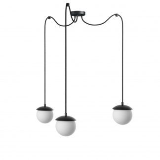 Lampa wisząca Kuul F - czarna, 3 klosze