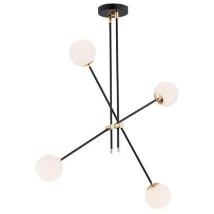 czarno-złota lampa molekularna