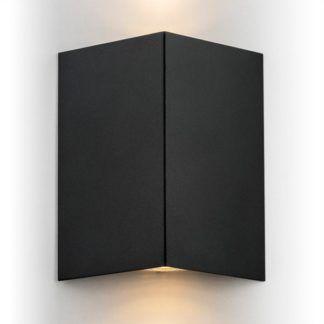 Metalowy kinkiet Skiatos - czarny trójkąt