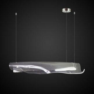 Lampa wisząca Cortina No.2 - akrylowy, podłużny klosz