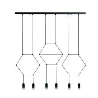 Podłużna lampa wisząca Linea - 6-punktowa