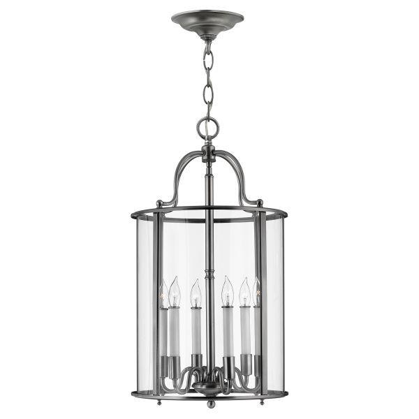 duża srebrna lampa wisząca lampion