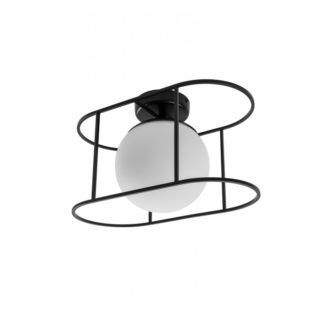 Nowoczesna lampa sufitowa Kuglo - szklany klosz, kula