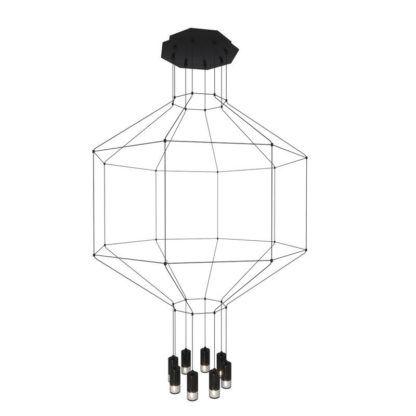 geometryczna lampa wisząca czarna