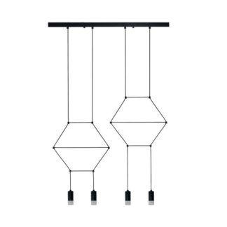 Podłużna lampa wisząca Linea - 4-punktowa