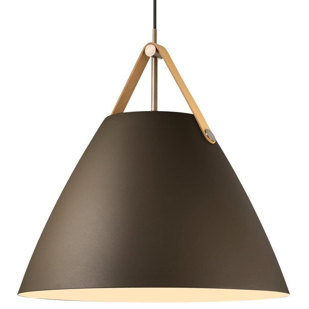 lampa brązowa strap z szerokim kloszem