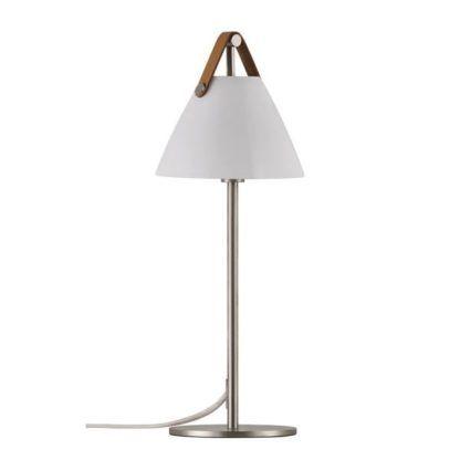 lampa stołowa z białym kloszem