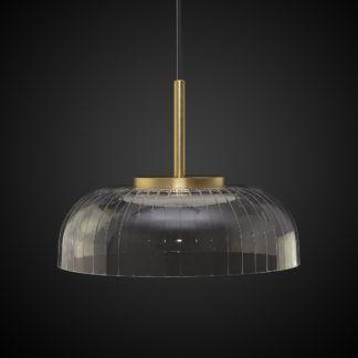 Lampa wisząca Vitrum - akrylowy klosz, złote elementy