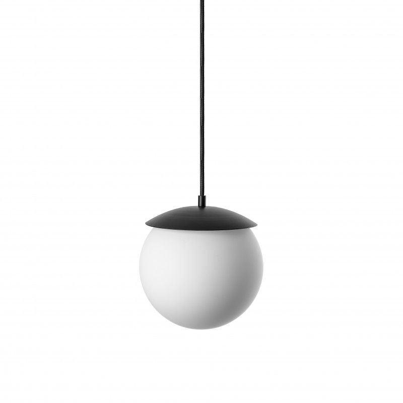 Szklana lampa wisząca Kuul G - biała kula