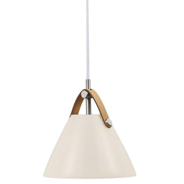 Biała lampa wisząca Strap 16 - DFTP - Nordlux - szklany klosz