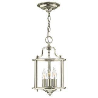 Szklana lampa wisząca Gentry - polerowany nikiel