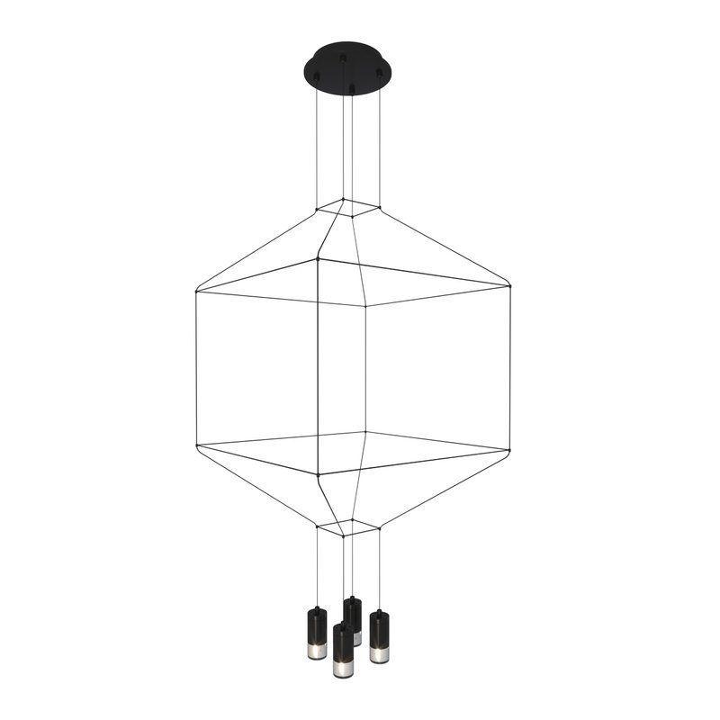 czarna designerska lampa wisząca