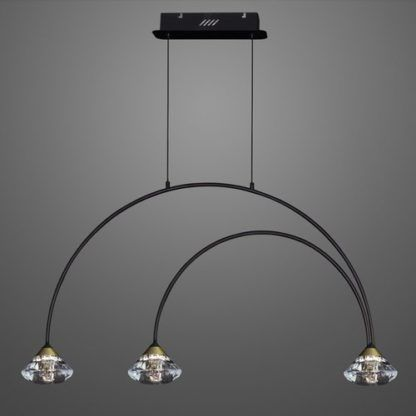 nowoczesna lampa wisząca metalowe łuki