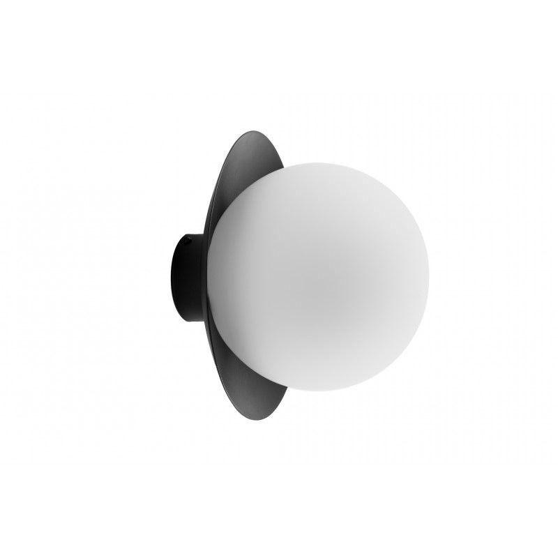 nowoczesny plafon biel i czerń