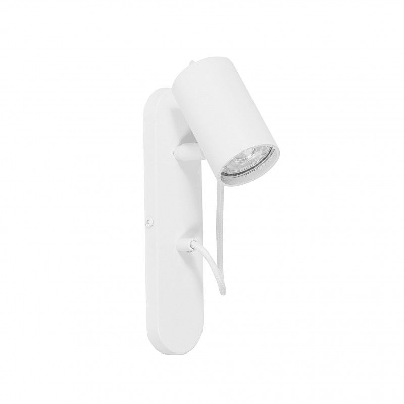 biały reflektor ścienny nowoczesny