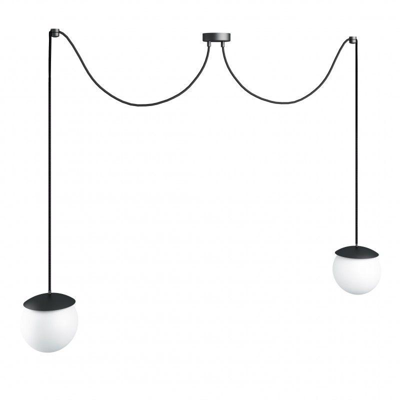 Lampa wisząca Kuul F - czarna, 2 klosze