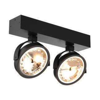 Podwójny reflektor sufitowy - GO SL - Zuma Line - czarny