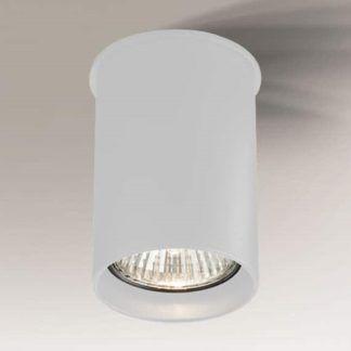 Lampa sufitowa downlight Arida - okrągła, biała
