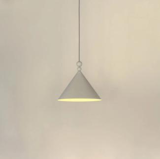 Lampa wisząca Konko - jasnoszary klosz stożkowy, 30cm