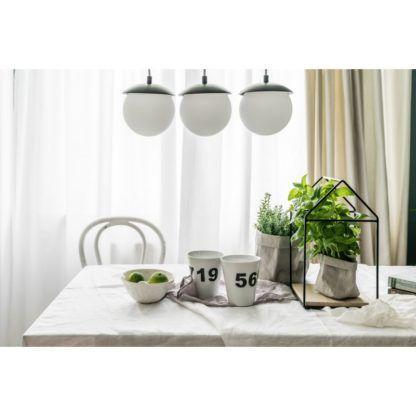 szklana lampa nad stół do jadalni