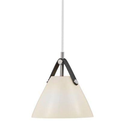 szklana lampa wisząca stożek