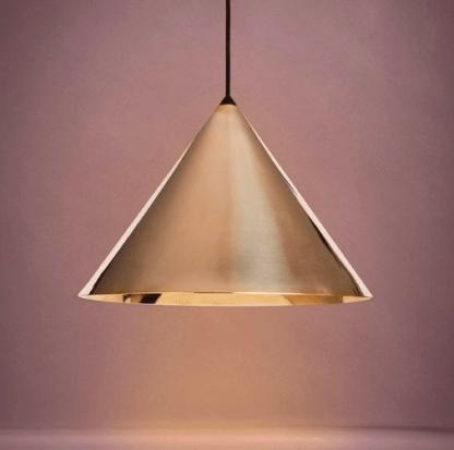 złota błyszcząca lampa wisząca