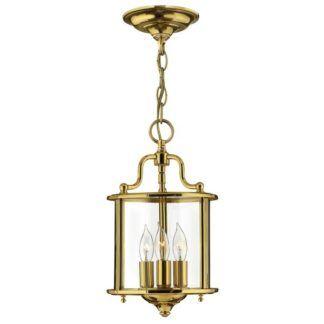Szklana lampa wisząca Gentry - złota, rozmiar S
