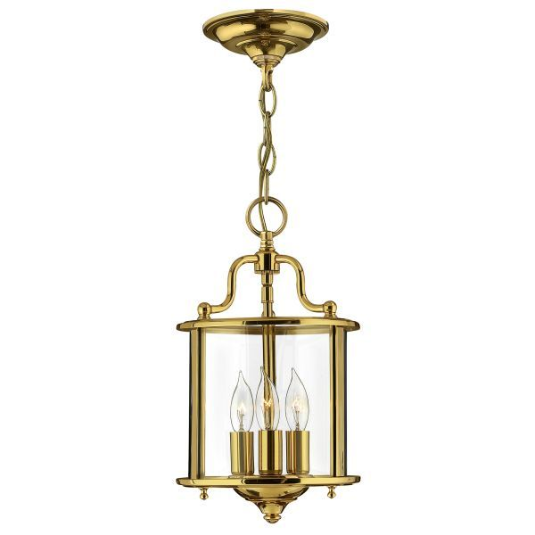 złota lampa wisząca klasyczna