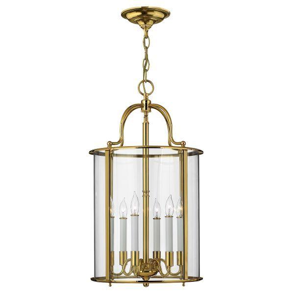 złota lampa wisząca klatka