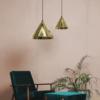Złota lampa wisząca Konko Light - 30cm, polerowany mosiądz