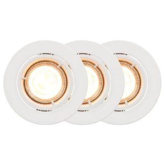 Białe oczka sufitowe Carina - okrągłe, smart light, 3 szt