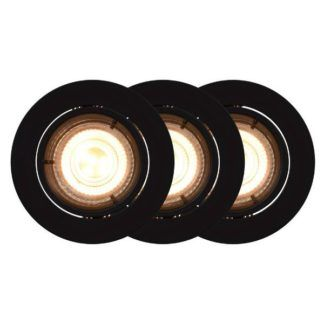 Czarne oczka sufitowe Carina - 3szt, smart light