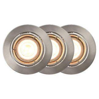 Srebrne, okrągłe oczko Carina - smart light, 3 szt