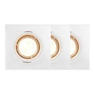 Białe oczka sufitowe Carina - smart light, 3 szt