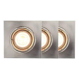 Zestaw srebrnych oczek sufitowych Carina - 3szt, smart light
