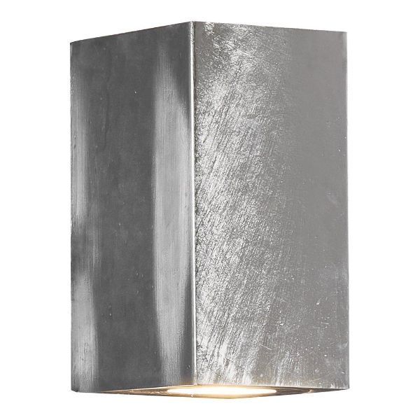 srebrny nowoczesny kinkiet szara ściana