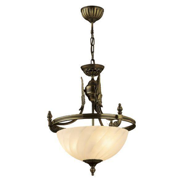 Lampa wisząca Cordoba II - klasyczne zdobienia, prążkowany klosz