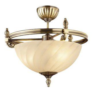 Klasyczna lampa sufitowa Cordoba II - mleczny klosz