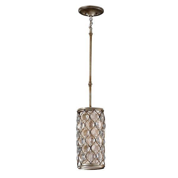 pionowa lampa wisząca z kryształkami