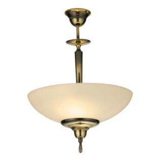 Lampa wisząca Onyx - mleczny klosz, patyna połysk